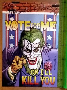 1 Vote for JOKER promo card signed by Jerry Robinson (creator) & Marshall Rogers
