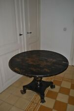 Japanese table, in need of restoration. H:70 cm x diameter tabletop: 98 cm.