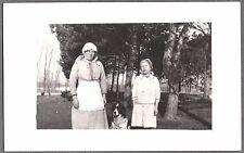 VINTAGE PHOTOGRAPH RPPC 1904-18 SAINT ST. BERNARD DOG CHICKEN OLD PHOTO POSTCARD