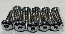 1/4-20 X 1-1/4 Chrome Button Head Allen Bolts 10 Pcs