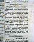 President ABRAHAM LINCOLN Call for Troops Proclamation 1864 Civil War Newspaper
