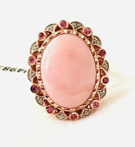 Chuck Clemency STS (NWT) NYC II Pink Opal, Pink Sapphire, Wht Zircon SS 925-Sz 8