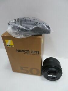 NIKON AF-S NIKKOR 50MM F/1.8G DIGITAL CAMERA LENS W/ CASE (R299)