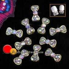 10x 3D Farfalle Multicolori Strass Decorazione Unghie Custodia Cellulari Borse