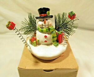 NOB Yankee Candle Christmas Topper Snowman replacement  cute