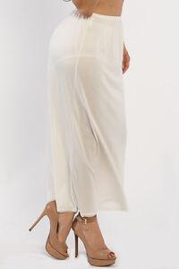 "35"" Length Women Plain Long Half Slip Ladies 100% Polyester S M L XL 2X 3X 4X 5X"