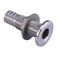 """1/2"""" Boat Thru Hull Drain Fitting Pipe W/ Scupper Marine Yacht Stainless Steel"""