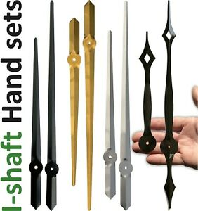 Large clock hands for quartz movement, I-shaft / Euroshaft (Seiko, SKP, etc), UK
