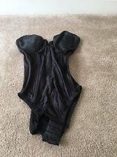 Sophistique By Smoothie Womens 1 Pc Snap Crotch Teddie Girdle Sz 34C Black