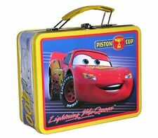Disney Cars Lightning McQueen Piston Cup Tin Metal Lunch Box Bag Carry All Case