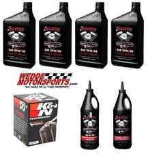 Harley Davidson 99-06 Twin Cam Klotz Oil Change Kit with K&N Chrome Filter