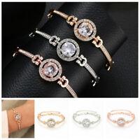 Charm Fashion Luxury Bracelet Women Crystal Rhinestone Chain Cuff Bangle Jewelry