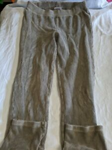 Hanna Andersson girls sz. 140 gray ribbed pull on soft pants. Cute, comfortable