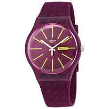 Swatch Winery Quartz Red Dial Ladies Watch SUOR709