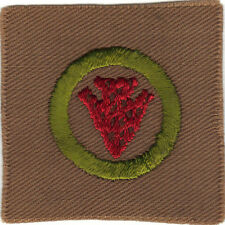 BOY SCOUT INDIAN LORE SQUARE MERIT BADGE (TYPE A) MINT