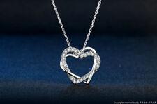 Heart Cubic Zirconia Necklace & Pendant Silver