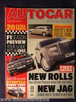 AUTOCAR Magazine 26th February 2003 F1 Season Preview