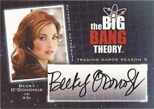 "Big Bang Theory Season 5 - A9 Becky O'Donohue ""Siri"" Auto / Autograph Card"