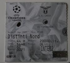 old TICKET CL SS Lazio Roma Italy - FC Copenhagen Denmark