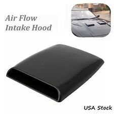 Universal Car Decorative Black Air Flow Intake Hood Scoop Bonnet Vent Cover US