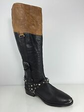 "New Sam Edelman ""Park"" Womens Black/brown Leather Boots 7 M"