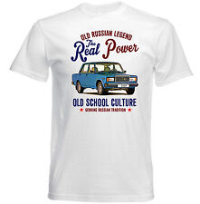 VINTAGE RUSSIAN CAR LADA 2107 - NEW COTTON T-SHIRT