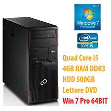 PC ORDENADOR SOBREMESA REACONDICIONADO WINDOWS 7 QUAD CORE i5 4GB 500GB