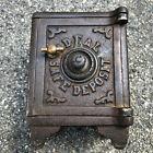 Vintage Cast Iron Ideal Coin Bank Safe Combination Detailed Heavy Safe Deposit