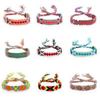 Friendship Bracelets Ethnic Jewelry Hand Weave Charm Braided String Rope