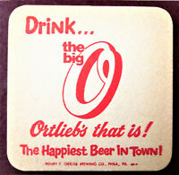 "35 Vintage NOS ""ORTLIEB'S Drink the big O, Ortliebs that is!"" Coasters Bar Pub"