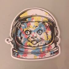 Spaceman Spacecat Astronaut cute Sticker Decal Skateboard Guitar Vinyl Car