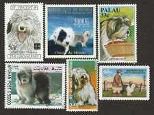 Old English Sheepdog * Int'l Postage Stamp Art Collection *Unique Gift Idea*
