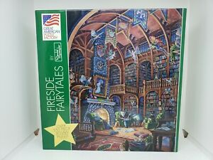 VTG Randall Spangler FIRESIDE FAIRYTALES 550 PC GREAT AMERICAN PUZZLE FACTORY