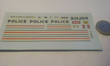 decals decalcomanie deco police peugeot j9 1/43