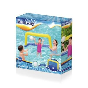 Bestway Inflatable Swimming Pool Football Goal Water Polo Game Kids Ball & Net