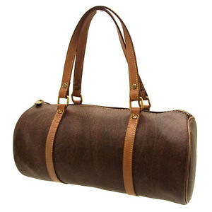 Etro Boston bag Paisley Brown Brown Woman Authentic Used L093