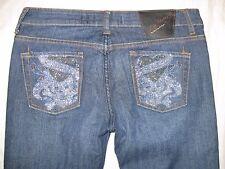 Ed Hardy by Christian Audigier Size 30 X 31 1/2 Bling Boot Cut Women's Jeans