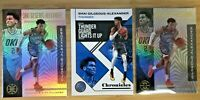 Lot of (3) Shai Gilgeous-Alexander 2019 Panini Illusions & Chronicles Base