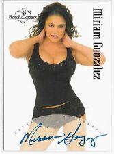Miriam Gonzalez signed 2003 Benchwarmer trading card #BT7