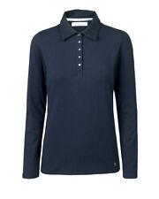 Artigiano Weekend Manica Lunga Jersey Polo Top Camicia Taglia 24 Bnwt Rrp £ 44.90 Navy