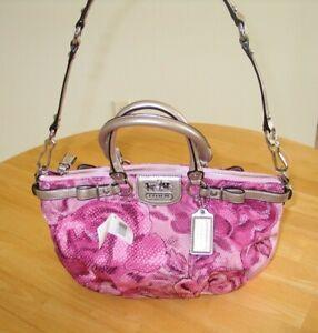 Coach pink Madison floral Opa Sophia Shoulder Bag / Purse