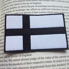 Finnish Flag 3D Finland National Flag EMBROIDERED HOOK &LOOP PATCH /WHITE