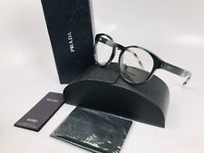 ✳ New Prada VPR 16T USI-1O1 Shiny Grey Havana Eyeglasses 52mm Box Set