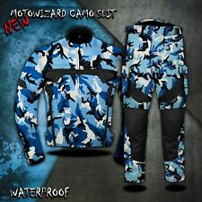 Camo Motorbike Motorcycle Textile Cordura Jacket Trousers Waterproof Racing Suit