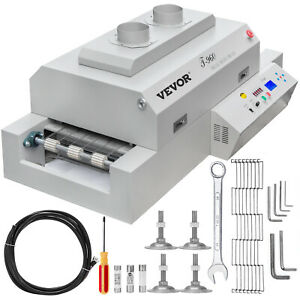 VEVOR Reflow-Ofen Lötmaschine Rückfluß T960 4500 W IR-Lötofen 960 x 300 mm