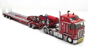 Kenworth K200 Drake 3x8 Swingwing Trailer - Rosso Red 1:50 Scale #ZT09015A New!