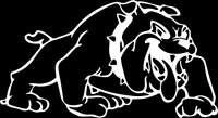 Bulldog 1 Color Window Wall Vinyl Decal Sticker Printed Mascot Graphic