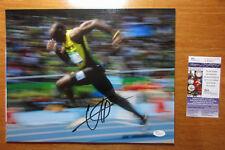 *LIGHTNING* Usain Bolt Signed 2016 Olympics Action Shot 11x14 Photo Proof JSA