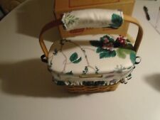 Longaberger 1992 Dresden Basket w/ Lid Signed new in box clean no odors or flaws