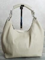 Ital. Fashion Shopper Ledertasche Schultertasche Damentasche LEDER Beige 602BE